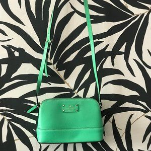 Kate Spade Green Crossbody with card case